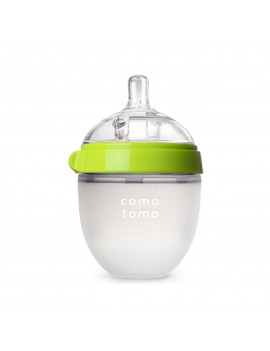 Comotomo Baby Bottle - 5oz, Green, Single Pack