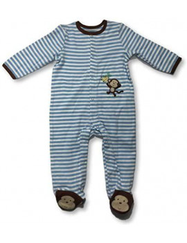 Baby Boy's Long Sleeve Snap Bodysuit Rompers