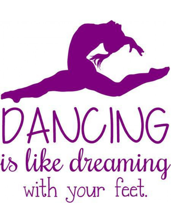 "Vinyl Wall Decal: Dancing Decorative Wall Decals | Girl's Dance Sticker 20""x18"" [Dance2]"
