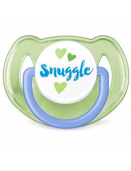 Philips Avent Classic Pacifier, 6-18 months, blue/green anchor and snuggle, 2 pack, SCF197/06