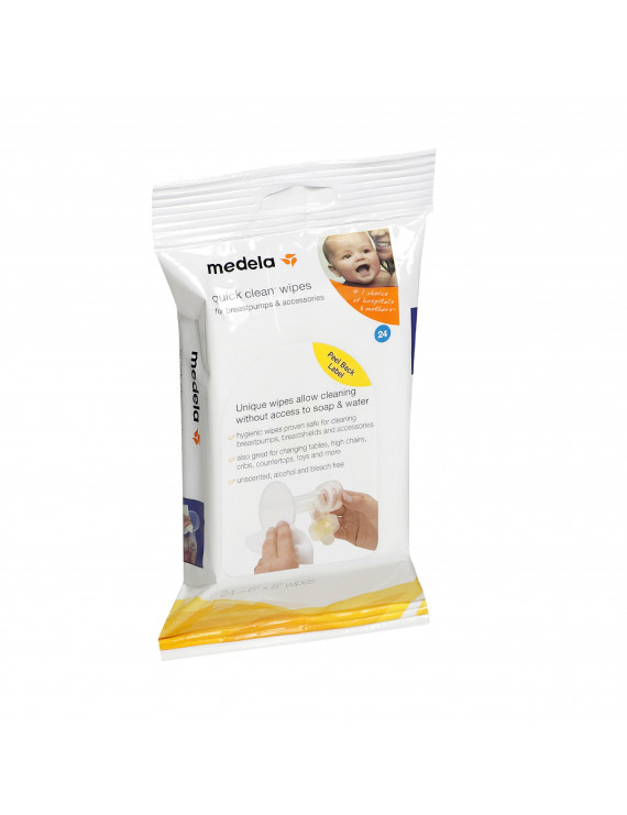 Medela Quick Clean Breast Pump and Accessory Wipes - 24 count