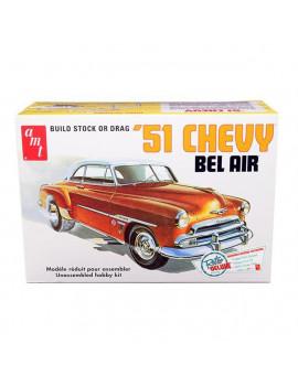 AMT AMT862 Skill 2 Model Kit 1951 Chevrolet Bel Air 2 in 1 Kit Retro Deluxe Edition 1 by 25 Scale Model