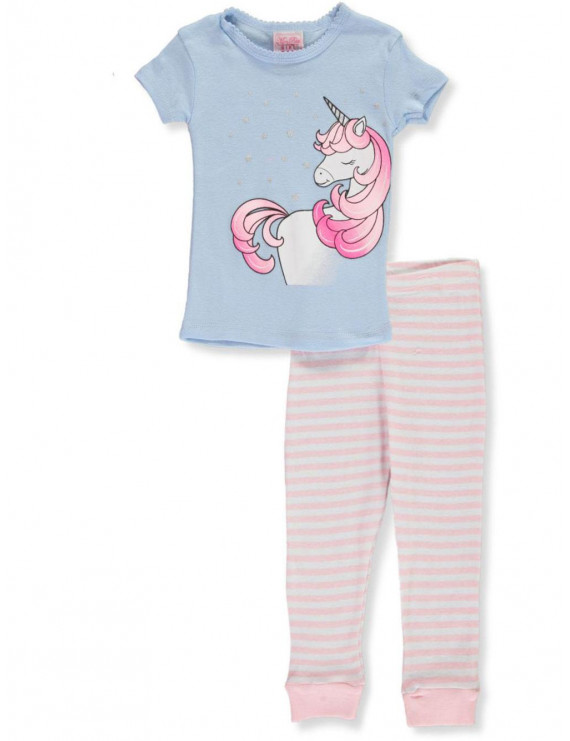 Mon Petit Baby Girls' Cute O Saurus 2-Piece Pajamas (Infant)