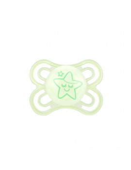 MAM Glow In The Dark Pacifiers, Baby Pacifier 0-6 Months, Best Pacifier for Breastfed Babies, Premium Comfort and Oral Care 'Perfect' Collection, Unisex, 1-Count