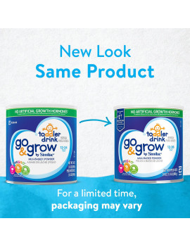 Go & Grow by Similac Milk-Based Toddler Drink, Powder, 24 oz (Pack of 4)