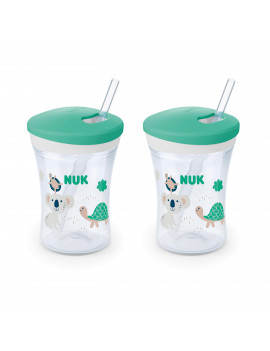 NUK Evolution Straw Cup, 8 oz., 2-Pack
