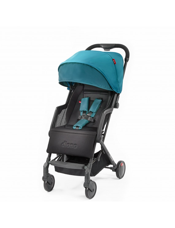 Diono Traverze Plus Lightweight Compact Stroller with Easy Fold, Travel Cover, and Luggage Handle, Teal