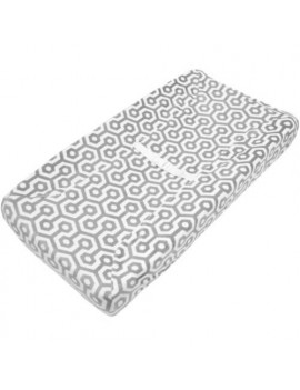 American Baby Company Heavenly Soft Chenille Fitted Contoured Changing Pad Cover, Gray Honeycomb, for Boys and Girls