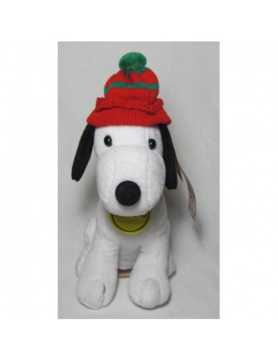"""peanuts celebrate 60 years 1960's decade 8"""" plush snoopy with knit hat"""