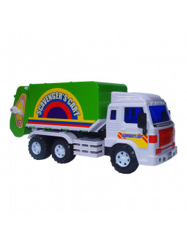 Big-Daddy Medium Duty Friction Powered Garbage truck (Dustbin Lorry) With Easy Collect Spin Flaps & Dump Lever When Full