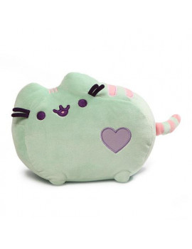 gund pusheen pastel heart stuffed animal cat plush, green, 12""