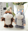Lovely Talking Plush Hamster Toy, Can Change Voice, Record Sounds, Nod Head or Walk, Early Education for Baby, Different Size for Choice gray and nodding 18cm