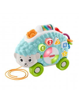 Fisher-Price Linkimals Happy Shapes Hedgehog, Friendly, interactive hedgehog pull toy with lights, music, and songs By FisherPrice