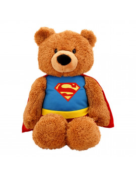 Superman Plush Stuffed Animal 20 in  DC Comics Superhero  Plush Teddy Bear Fuzzy Polyester Blend