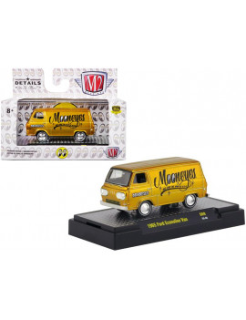 """1965 Ford Econoline Van """"Mooneyes"""" Liquid Gold Limited Edition to 3,680 pieces 1/64 Diecast Model Car by M2 Machines"""
