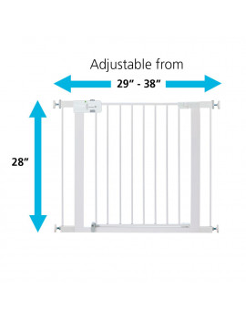 Safety 1st Adjustable Pressure-Mounted Walk-Through Gate