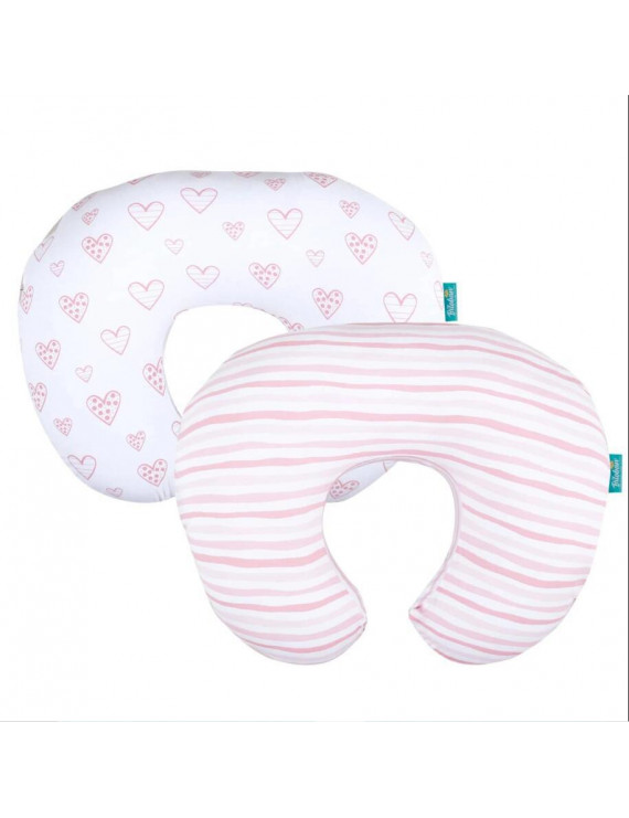 Nursing Pillow Cover for Boppy - 2 Pack, Ultra Soft 100% Jersey Cotton, for Moms Breastfeeding and Bottle Feeding Pillow