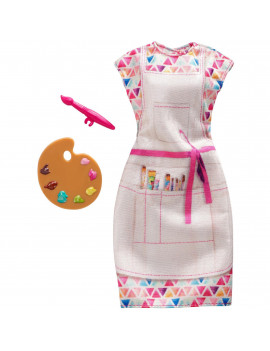 Barbie Careers Fashion, Colorful Dress with Artist Accessory