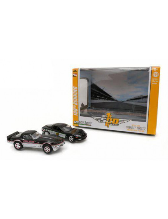 1978 & 2008 Corvette Indianapolis Indy 500 Pace Cars Set of 2 1/64 by Greenlight 29872, Brand new box. Authentic wheels and real rubber tires. Approximate.., By Chevrolet
