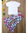 0-5 Year Toddler Kid Baby Girl Summer Mermaid Top Flared Pant Outfits 2PCS Sets