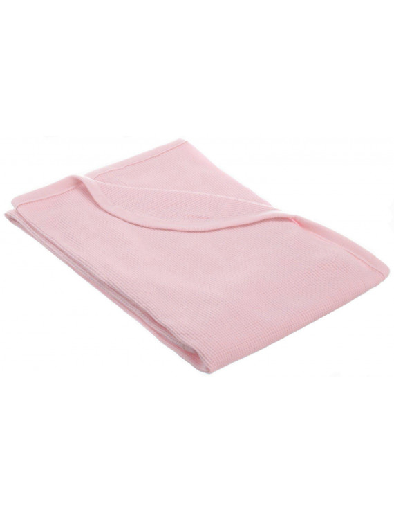 American Baby Company 30 X 40 - Soft 100% Natural Cotton Thermal/Waffle Swaddle Blanket, Pink, Soft Breathable, for Girls