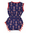Girls 4th of July Baby Nautical One-Piece Bodysuit (Blue, 18-24 mo/XL)