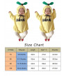 Newborn Infant Babys Girl Boy Banana Outfits Jumpsuit Bodysuit Romper Clothes