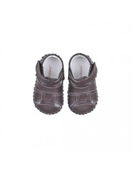 pediped Originals Harvey Sneaker (Infant), Chocolate Brown, Small (6-12 Months)