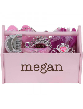 Personalized My Name Pink Toy Caddy