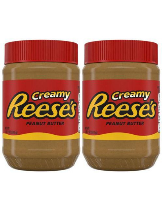 (2 Pack) Reese's Creamy Peanut Butter, 18 oz