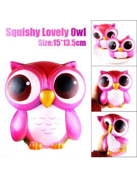 15cm Lovely Pink Owl Cream Scented Slow Rising Toys Collection