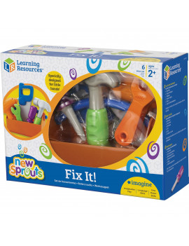 New Sprouts Fix It Fine Motor Skills, Construction Toy, 6 Pieces, Ages 2+