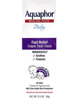Aquaphor Fast Relief Baby Diaper Rash Paste, 3.5 Oz.