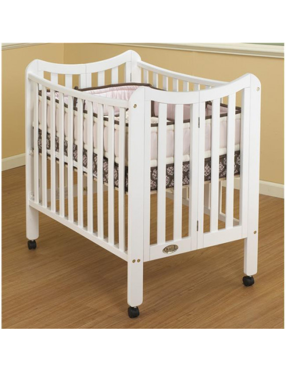 Three Level Portable Crib White