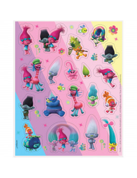 Trolls Sticker Sheets, 4ct