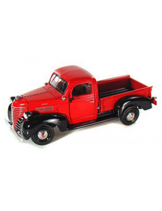 1941 Plymouth Pickup Truck, Red - Motormax 73278 - 1/24 scale Diecast Model Toy Car
