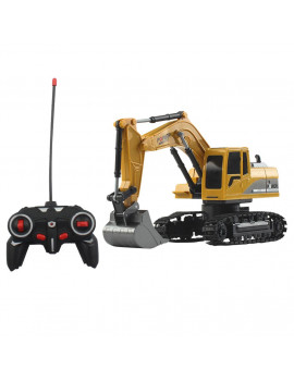1/24 6CH 4WD Track Excavator Construction Vehicle Alloy Parts RC Car Truck
