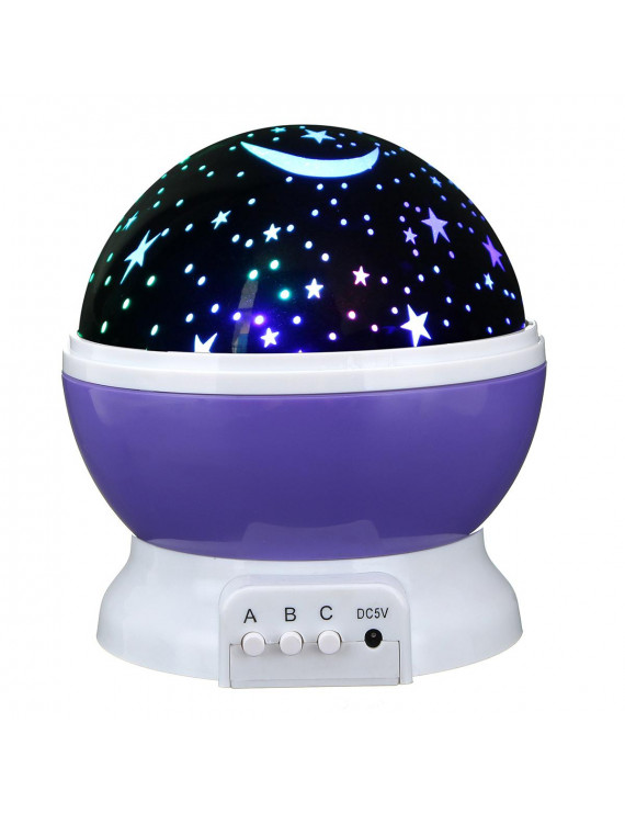 7 Colors Light LED Rotating Projector Starry Night Lamp Star Sky Romantic Projection Light