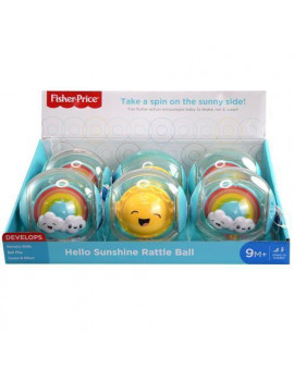 Fisher Price DP Hello Sunshine Rattle Ball with hangtag in display- SHIP 1 PC RANDOMLY