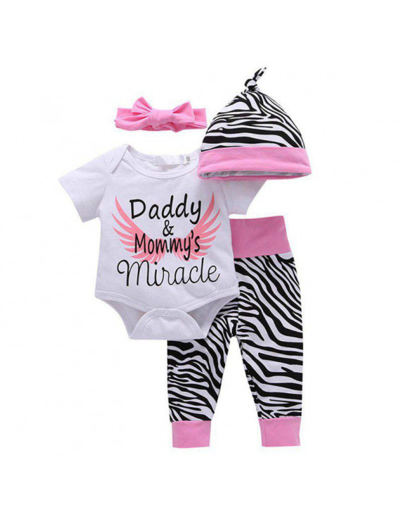 Lavaport Baby Girls Little Sister Bodysuit Tops Floral Pants Bowknot Headband Outfits Set