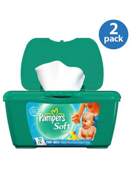 (2 Pack) Pampers Baby Wipes, Baby Fresh, 72 count Tub