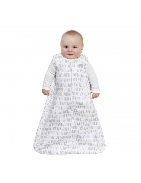HALO SleepSack Wearable Blanket, 100% Cotton, Grey Squares and Triangles, Large