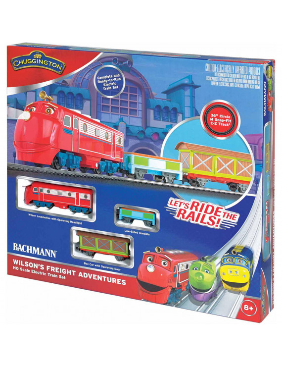 Bachmann Trains Chuggington Wilson's Freight Adventures, HO Scale Ready-to-Run Electric Train Set