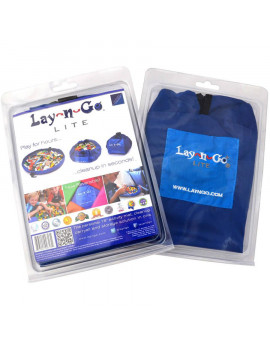 "Lay-n-Go LITE (18"") : Blue, Activity Play Mat, Toy Storage"