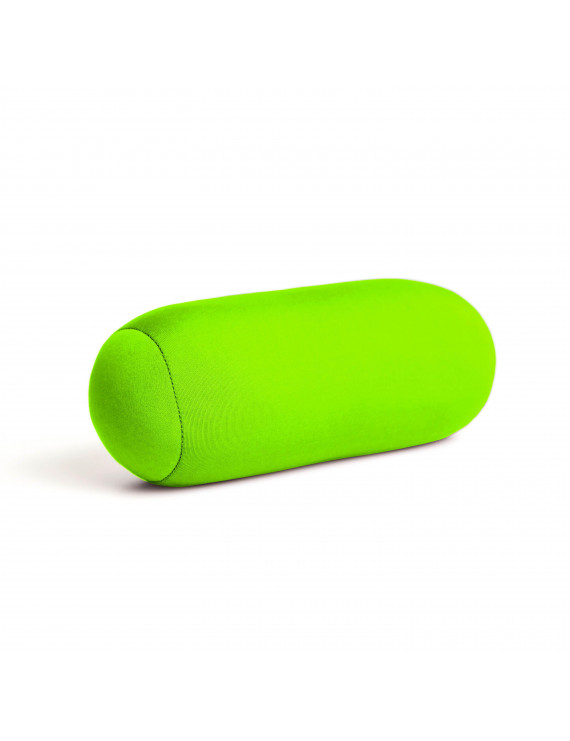 """Cushie Pillows 3.5"""" x 8"""" Microbead Bolster Squishy/Flexible/Extremely Comfortable Roll Pillow - Lime"""
