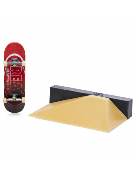 Tech Deck, Street Hits, Real Skateboards Fingerboard with Mini Fun Box Obstacle