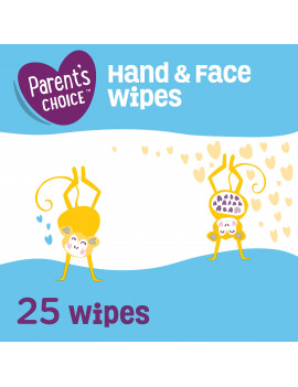 Parent's Choice Hand & Face Wipes, 25 Sheets