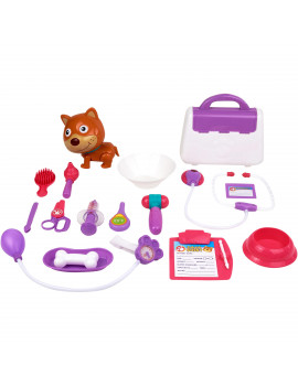 Kid Connection 24-Piece Light & Sound Veterinarian Cart Play Set