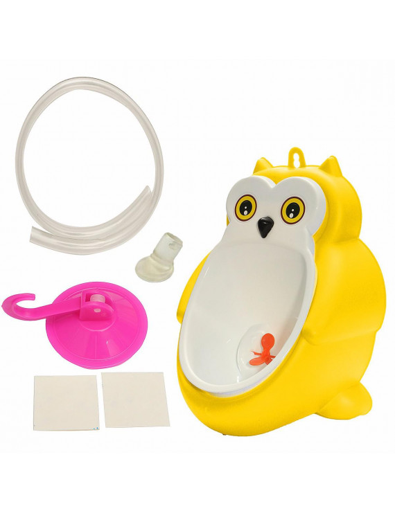 Cute Frog Owl Potty Training Urinal Toilet Urine Train Froggy Potty for Children Kids Toddler Baby Boys Portable Plastic Male Urinals Pee Trainer Funny Aiming Target