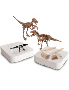 Discovery Mindblown Toy Dinosaur 3D Fossil Skeleton Excavation Kit, Educational Stem Science Kit Gift